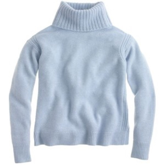 80% off J. Crew Sweaters - J.Crew Powder Blue Turtleneck Sweater ...