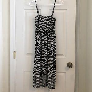 S Black and white slinky type dress
