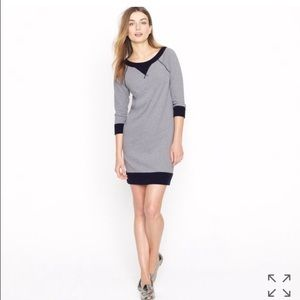 J.Crew Raglan grey and navy dress