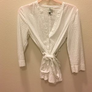 White peplum top from anthropologie