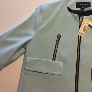 Metaphor Jackets & Blazers - Sky blue longline coat