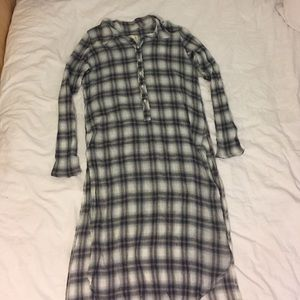 urban outfitters long flannel shirt
