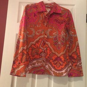 Bright and bold paisley shirt