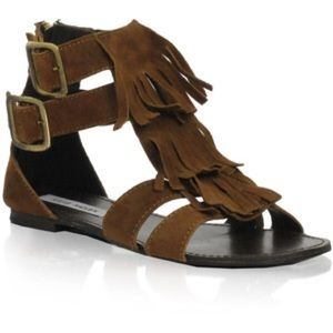 Steve Madden Brown fringe sandals size 6