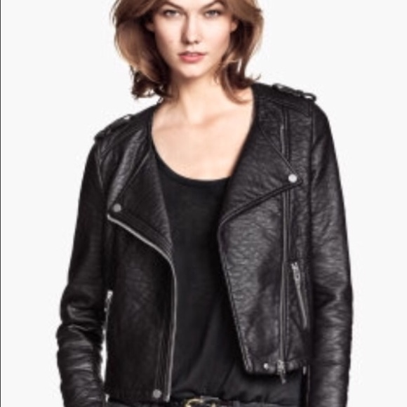 buy online luxury aesthetic hot-selling official NWT H&M Faux Leather Moto Jacket NWT