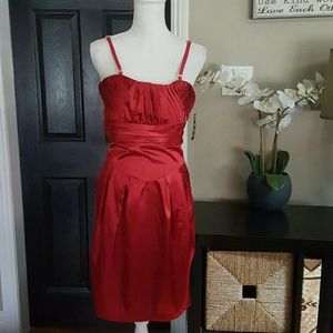 Snap Dresses & Skirts - 🆕Sexy Red with Stretch Dress sz 9 😍