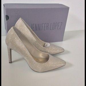 Jennifer Lopez Shoes - Jennifer Lopez Metallic Heels New In Box 🎉HP X3