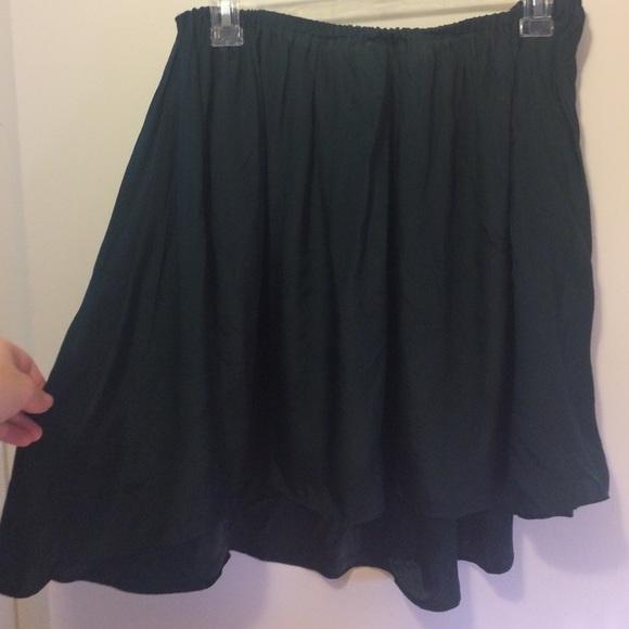 Blaque Market Skirts - Very Lightweight, Flowy Dark Green Skirt