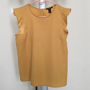 Tops - ✳️🆕Gold/mustard yellow blouse, S