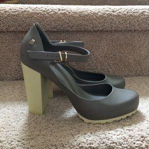 826fdf1575f Melissa Shoes - Melissa dark green chunky heels shoes