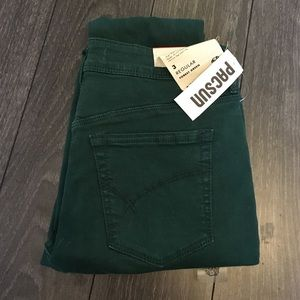 Forest Green High Waist Skinny Pants