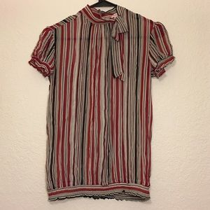 Striped Sheer Blouse