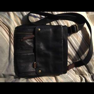 Black leather Fossil purse
