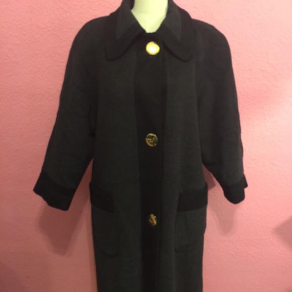 25425a8aa3b Kristen Blake Jackets   Blazers - Black   Gray wool dress coat for winter