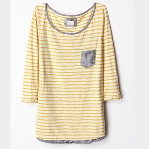 Anthropologie Tops - Anthropologie Block Pocket Tee