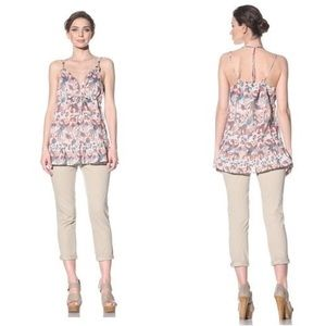 French Connection Swan Tank Ruffle  Top