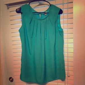 Merona Aqua Green Sleeveless Blouse
