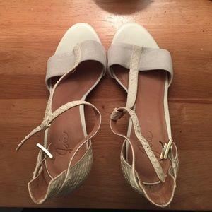 Joie white heel sandles