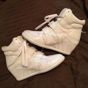 Forever 21 Shoes - Forever 21 Cream Sneaker Wedges