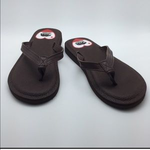 HBCali Other - NWT Brown Yoga Mate textured cushion flip flop 😍