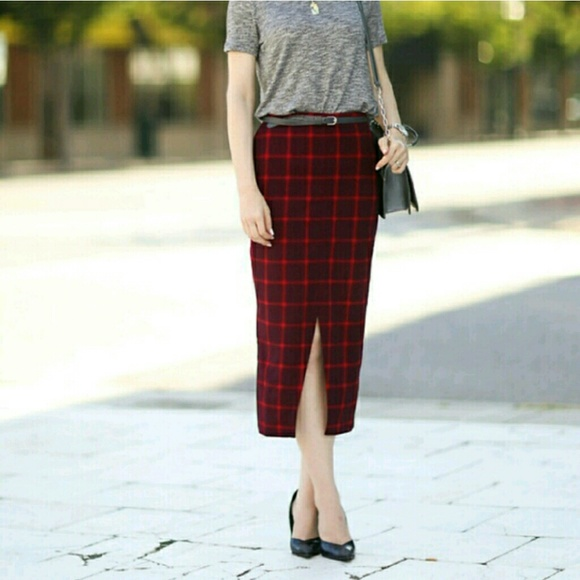 Old Navy - NWOT Plaid Midi Pencil Skirt from Alexandria's closet ...