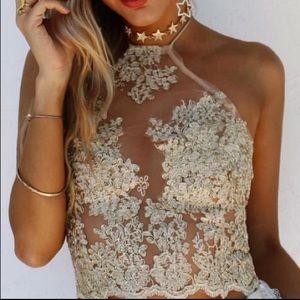 [white fox boutique] • [adore lace crop]