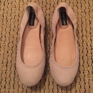 Adam Tucker Shoes - Cream Suede Adam Tucker Flats
