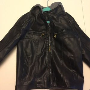 urban Republic Other - Urban republic faux leather jacket with hood