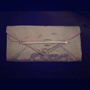 Silver Sparkly Victoria Secret Clutch