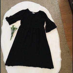 3/4 sleeve, SOFT winter black dress
