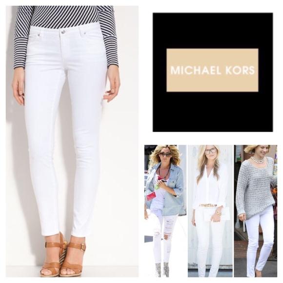 d37b62eb1d14 MICHAEL Michael Kors Jeans | White Skinny Nwt | Poshmark