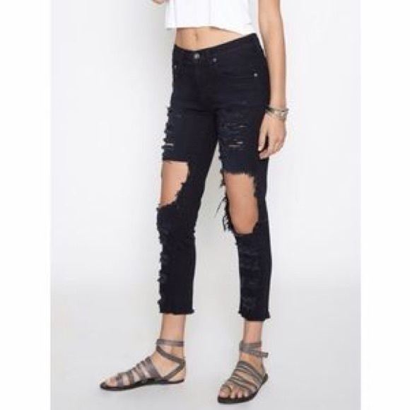 8c71486e98 LF Jeans | Carmar Mia Black Ripped | Poshmark
