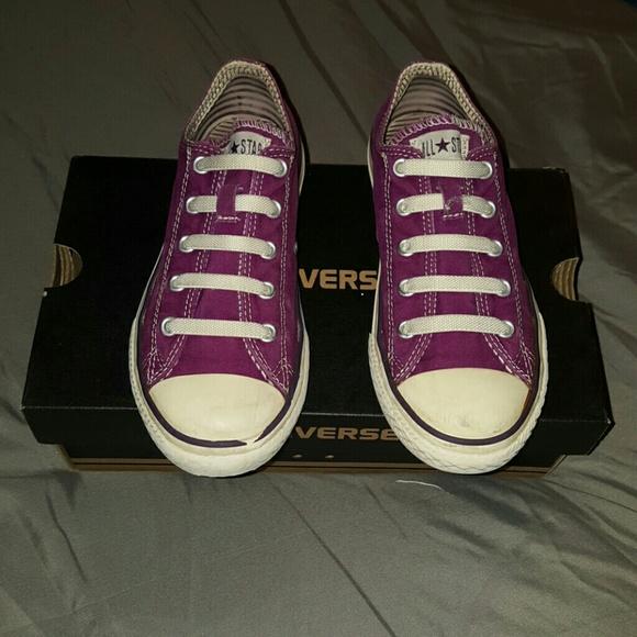 Converse Purple Slipon Welastic Laces