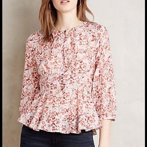 Anthropologie peplum top size 2