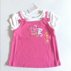 Gymboree Other - NWT Gymboree toddler (girl) pink kitty top