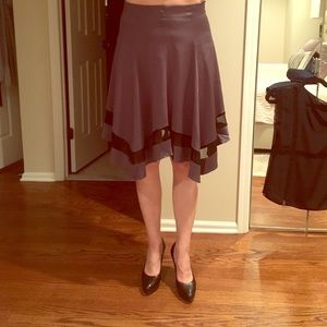 Emporio Armani grey and black sheer skirt