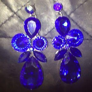 Stunning Dark Blue Fancy Dangling Earrings 💙