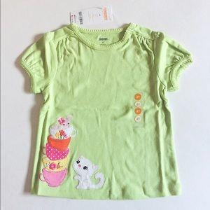 Gymboree Other - NWT Gymboree Toddler girl green kitty top