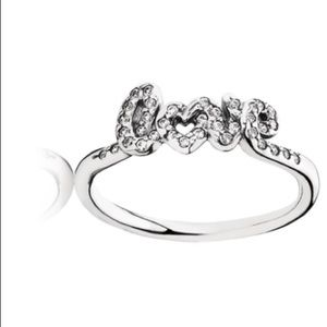 DISCONTINUED Pandora love ring.