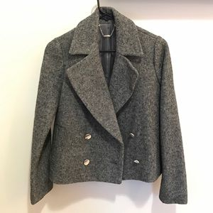 Gray double breasted jacket