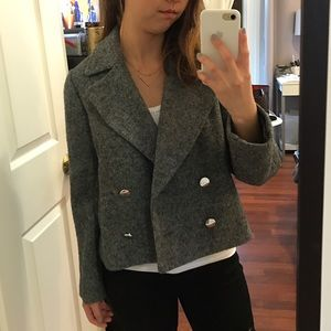 NEW Gray double breasted jacket