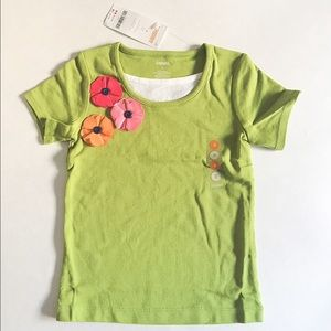Gymboree Other - NWT Gymboree toddler girl green little flower top