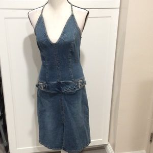 Hot Kiss Denim - Bare back Jean dress