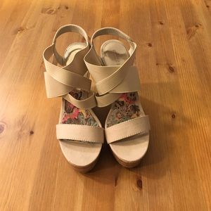 Madden Girl Wedge Sandals Size 6.5 (Fits like a 7)