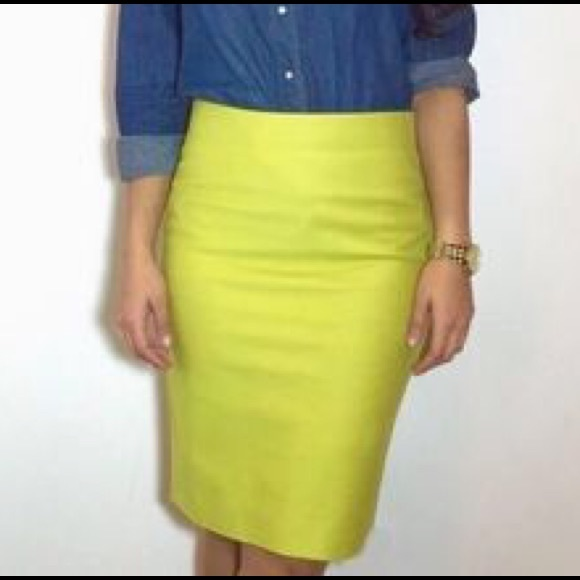 75% off J. Crew Dresses & Skirts - SOLD- Lime Green J. Crew Pencil ...
