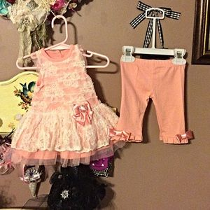 Nanette baby  Other - Peach two piece lace outfit NWOT 👗👗