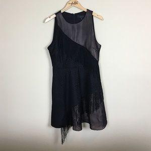 NWT Adelyn Rae Black String Shift Dress - L