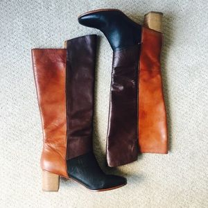 Anthropologie Leather Patchwork Boots