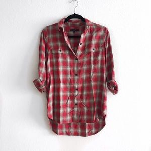 Madewell plaid button up flannel