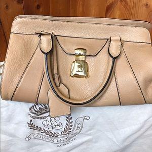 Lauren Ralph Lauren leather  satchel purse